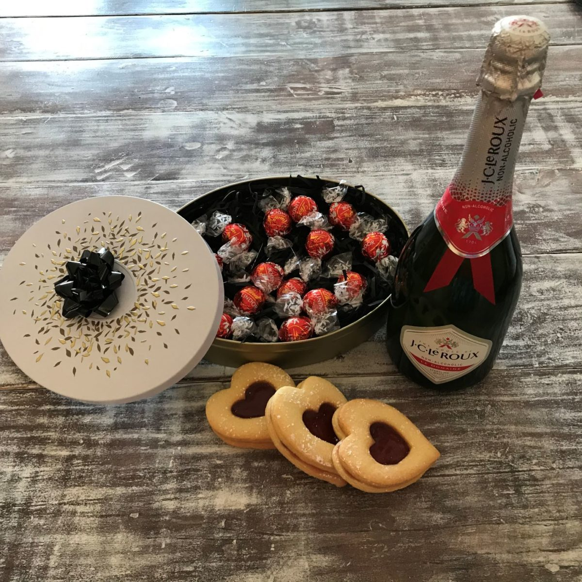 Lindt truffles with bubbly