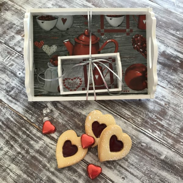 Valentines Day tea tray set